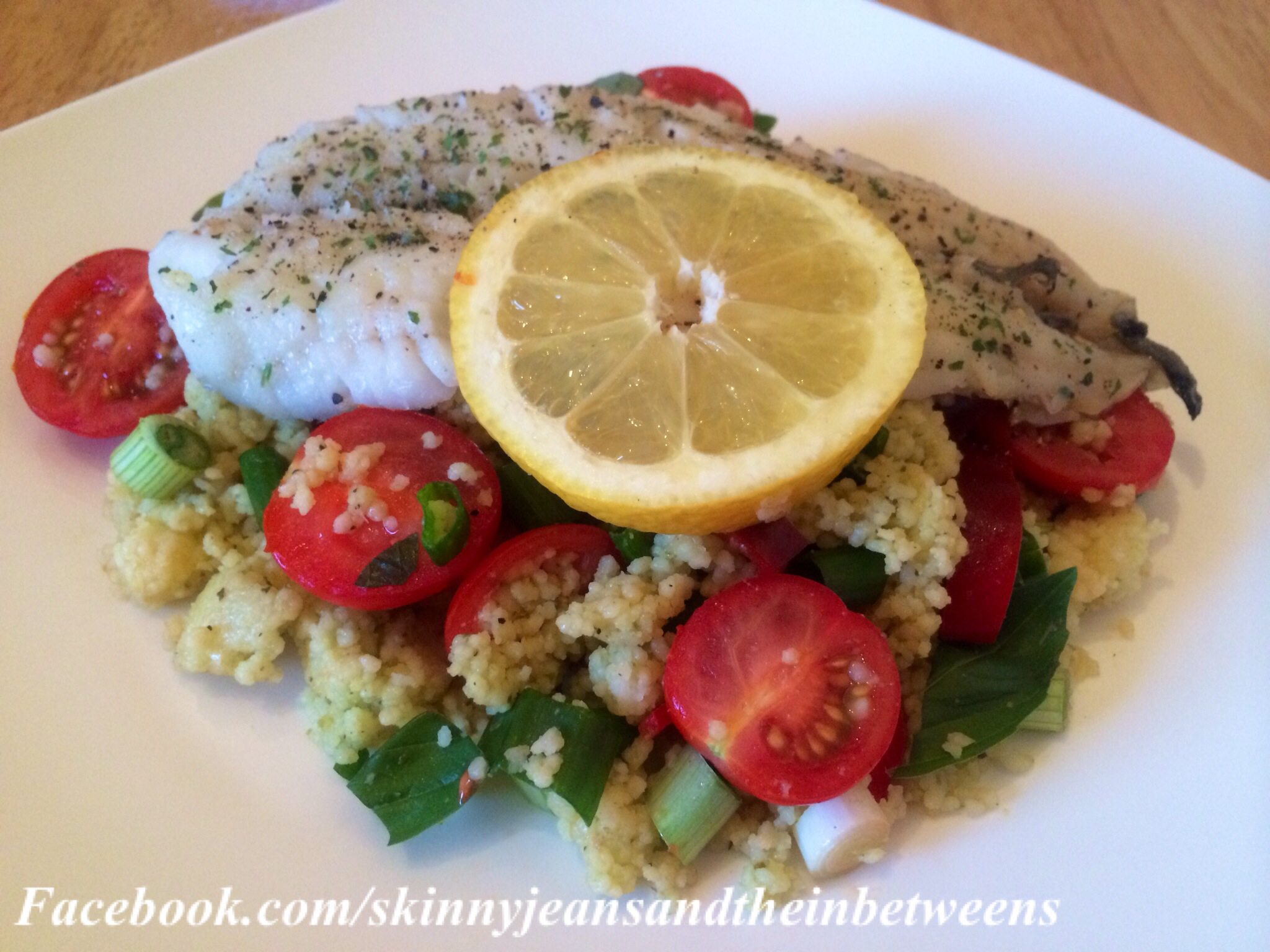 Panfried fillet of whiting with a pesto genovese couscous for Whiting fish fillet